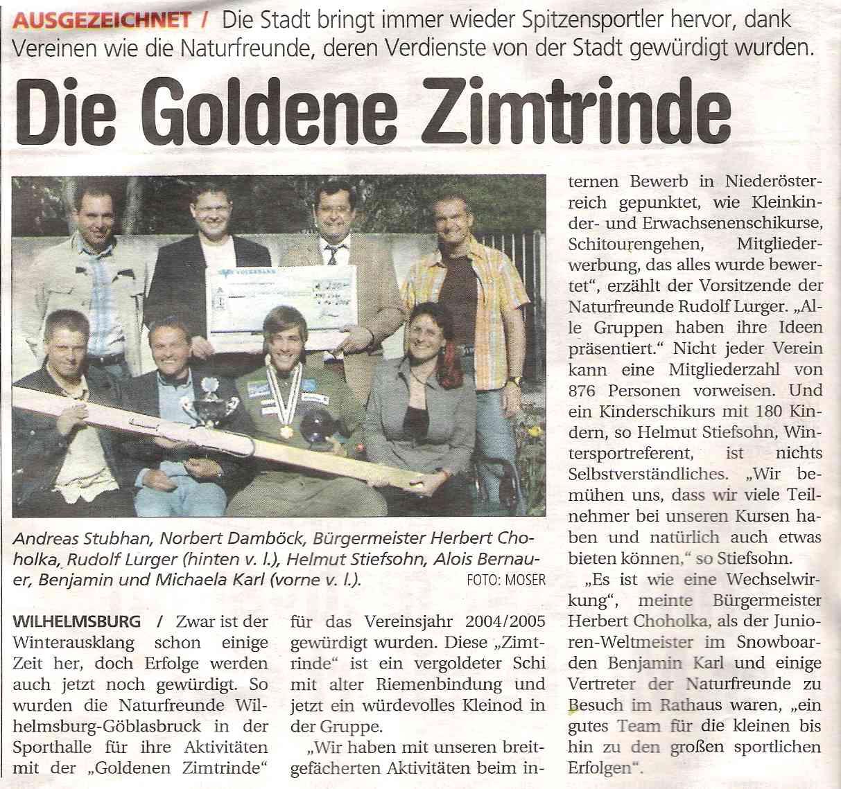 Goldene Zimtrinde_NÖN 2005